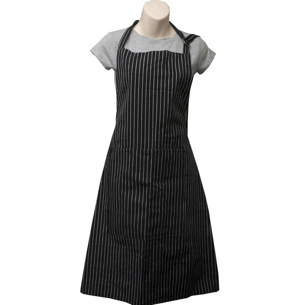 Pinstripe Black Butchers Apron  Homewares nz