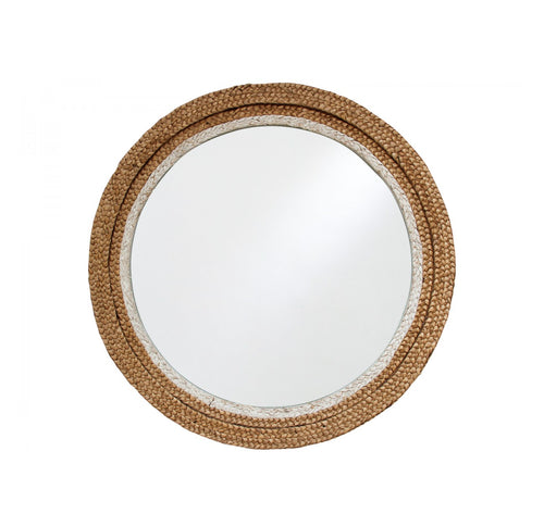 Round Seagrass Mirror  Homewares nz