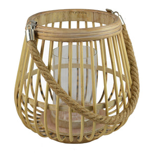 Natural Bamboo Lantern - Medium  Homewares nz