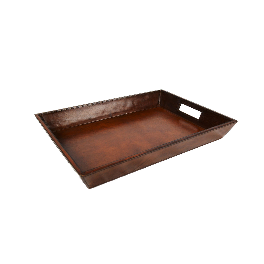 Leather Document Tray - Tan Homewares nz
