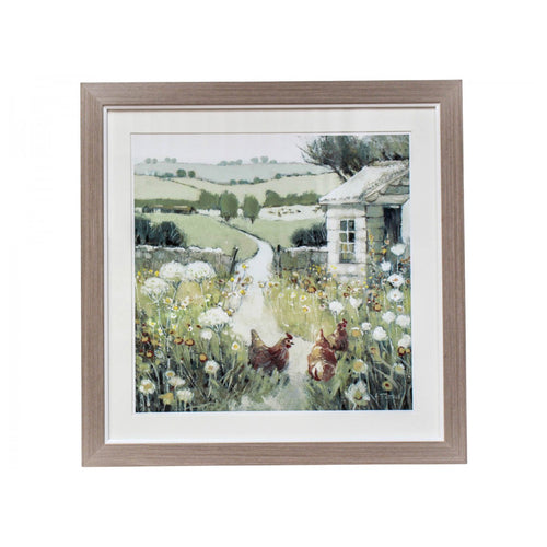 Country Path Print In Natural Frame 42cm  Homewares nz