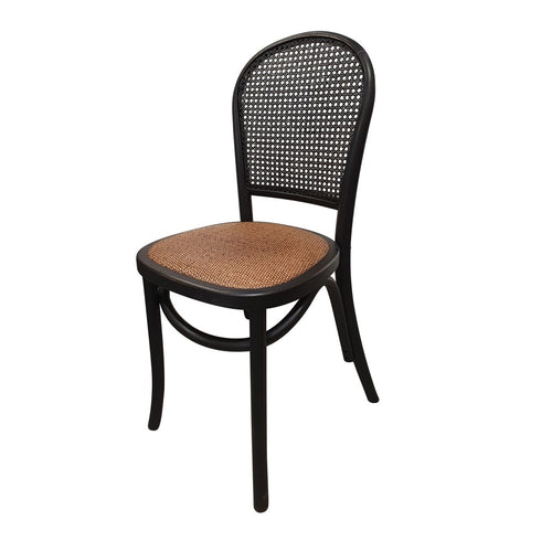 Panama Oak Dining Chair - Black Furniture nz