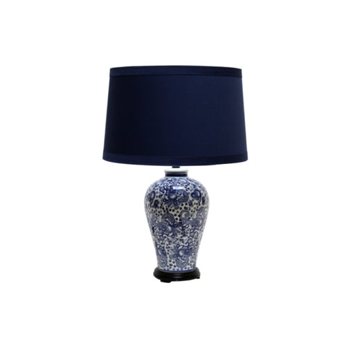 Paisley Dotted Lamp - Navy & White  Homewares nz