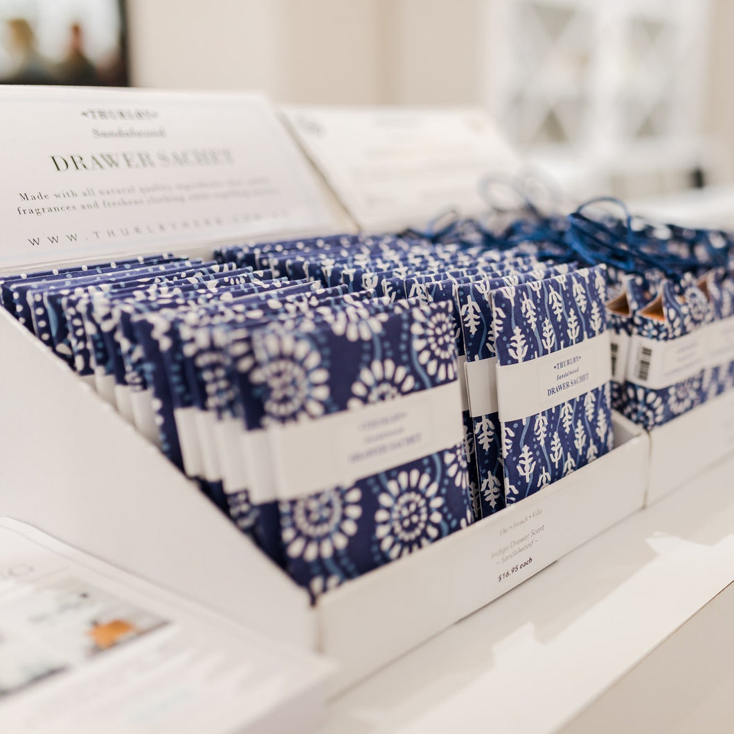 Indigo Drawer Sachet Homewares nz