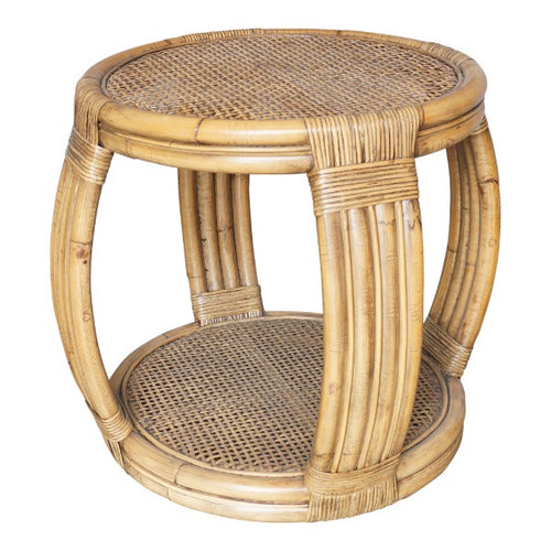 Havana Rattan Barrel Side Table furniture nz