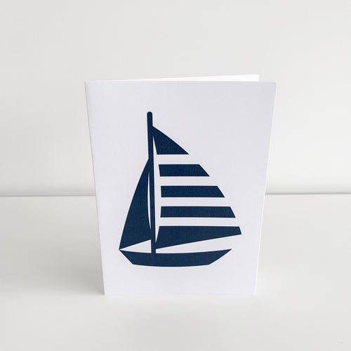 Standard Greeting Card - Navy Yacht