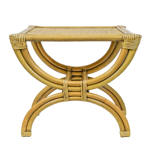 Panama Half Circle Stand Side Table - Toffee