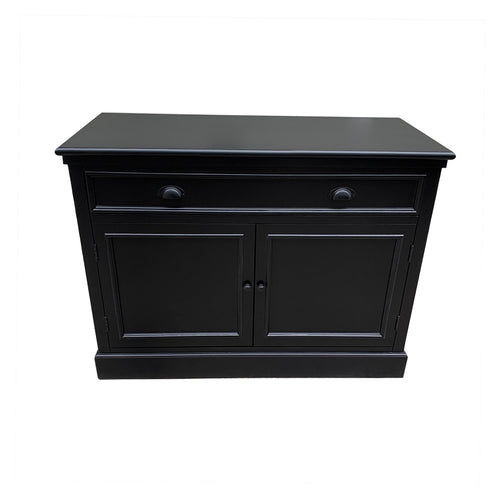 Hamptons 2 Door Sideboard - Black  Furniture nz