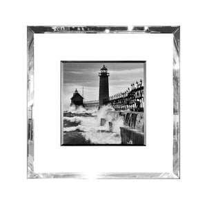 Lighthouse Cove Print In Mirrored Frame Homewares nz