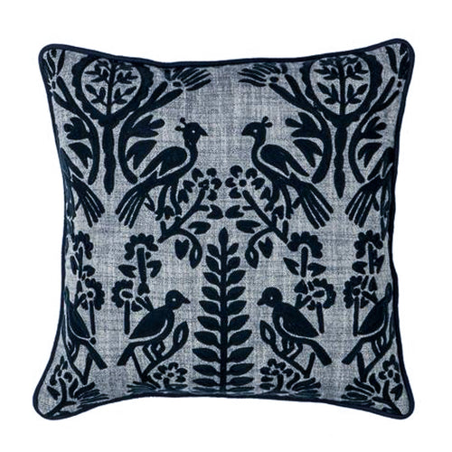 Avery Cushion 45x45cm - Navy