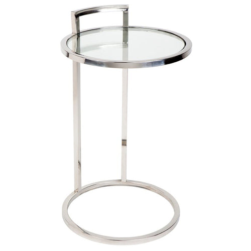Hamptons Over Sofa Chrome Side Table  Furniture nz