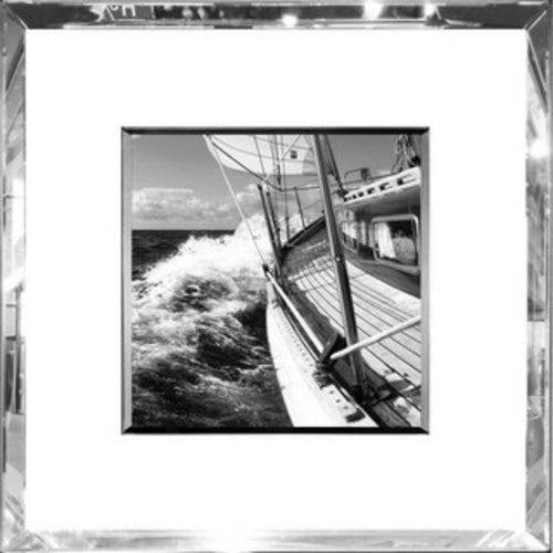 Ahoy Print In Mirrored Frame  Homewares nz