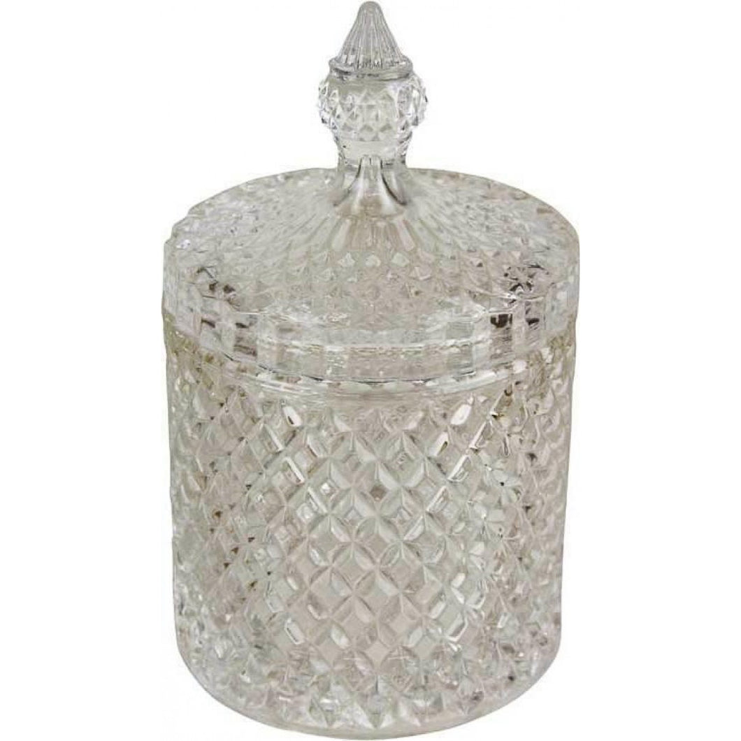 Glass Trinket Jar 14cm - Medium Homewares nz