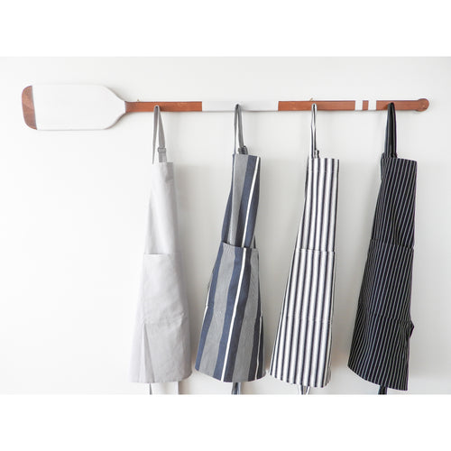 Attic Butchers Apron - Black & White Stripe  Homewares nz