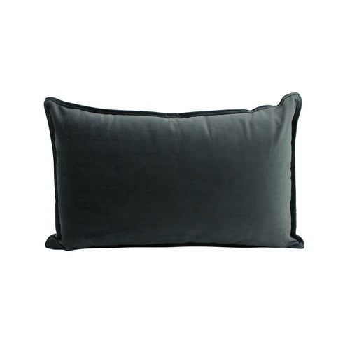 Velvet Cushion Charcoal 30x50cm  Homewares nz