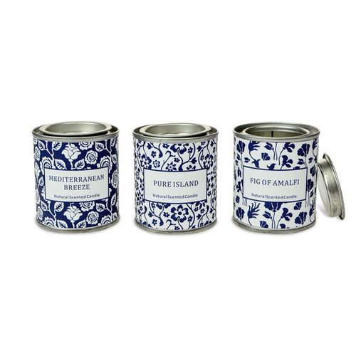 Set Of 3 Seaside Candles