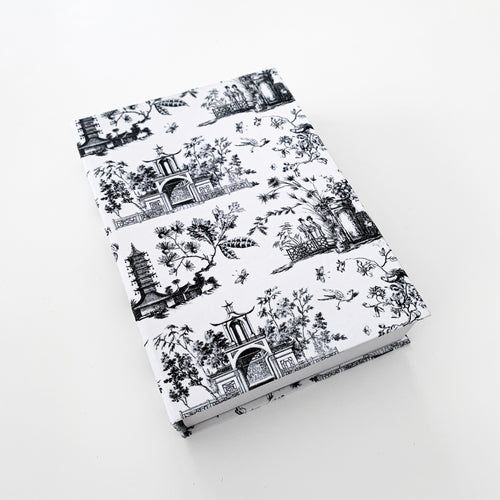 The French Villa Chinoiserie Notepad - Black & White