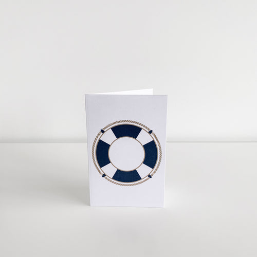 Mini Greeting Card - Life Ring
