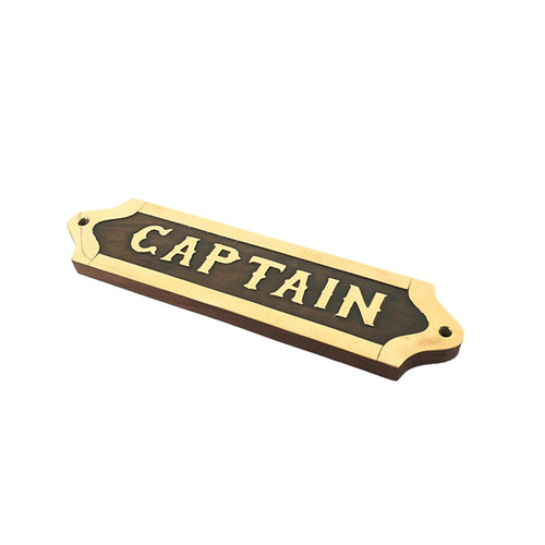 Captain Wooden Plaque Homewares nz