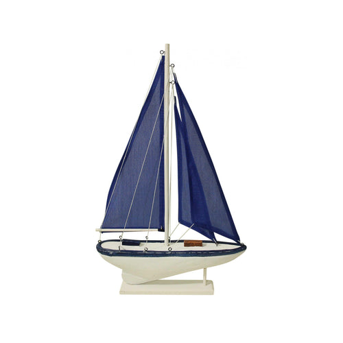 Navy Sailing Boat 38cm - Medium