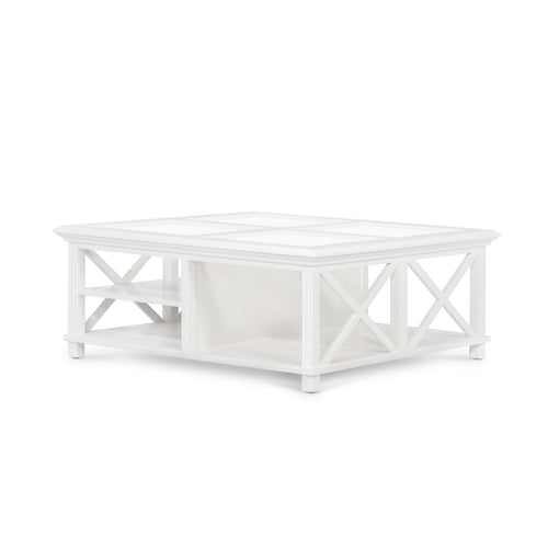 Rhode Island Large Square Coffee Table - White