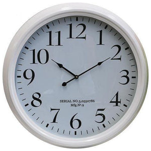 White Clock With Serial No. 62cm  Homewares nz