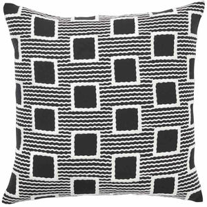 Burundi Cushion 50x50cm - Black and White