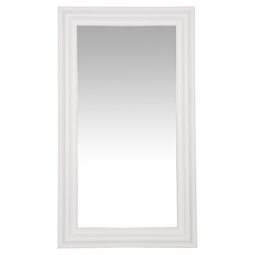 Sophie Detailed Mirror With Bevelled Edge - White  Homewares nz