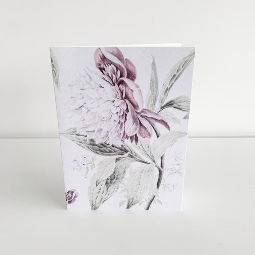 Standard Greeting Card - Vintage Peonies Homewares nz
