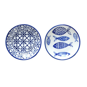 Blue & White Decorative Saucer (Assorted) Homewares nz