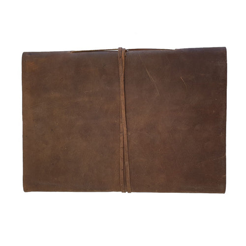The Field A5L Handmade Buffalo Leather Wrap Journal Sketch Book 25cm