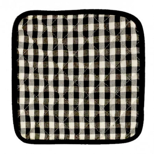 Gingham Check Pot Holder Set - Black & White  Homewares nz