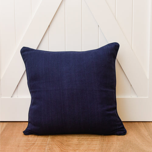 Wilton Cushion 50x50cm - Navy  Homewares nz