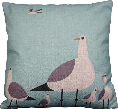 Standing Seagulls Cushion 45x45cm  Homewares nz
