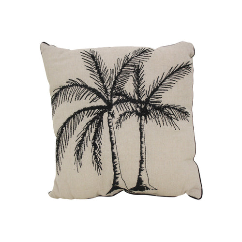 Black Palm Cushion homewares nz