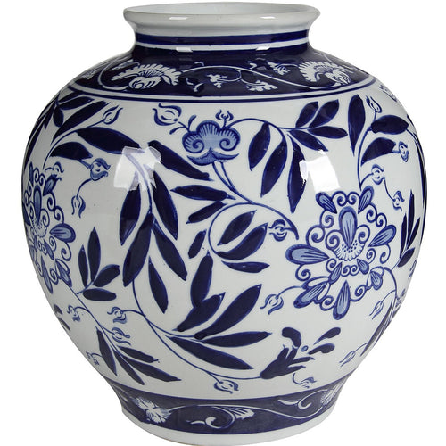 Aline Blue & White Vase  Homewares nz