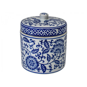 Tapestry Blue & White Jar 14cm  Homewares nz