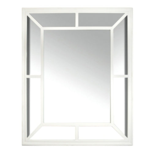 Eastport Wood Mirror 100cm - White