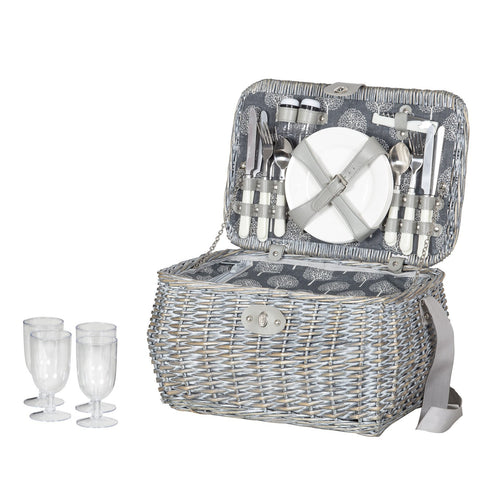 Lucien Picnic Basket (4 Person Set)  Homewares nz