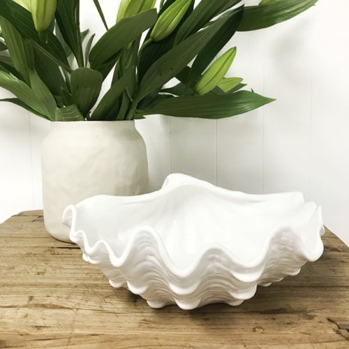 Ceramic Clam Bowl 30cm Homewares nz