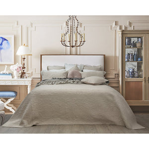 Louise Latte Coverlet Set - Single  Homewares nz