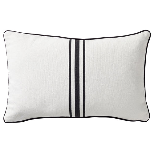 Striped Cushion 30x50cm - Black & White
