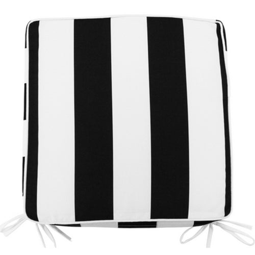 Black & White Stripe Outdoor Chair Pad 42x42cm Homewares nz
