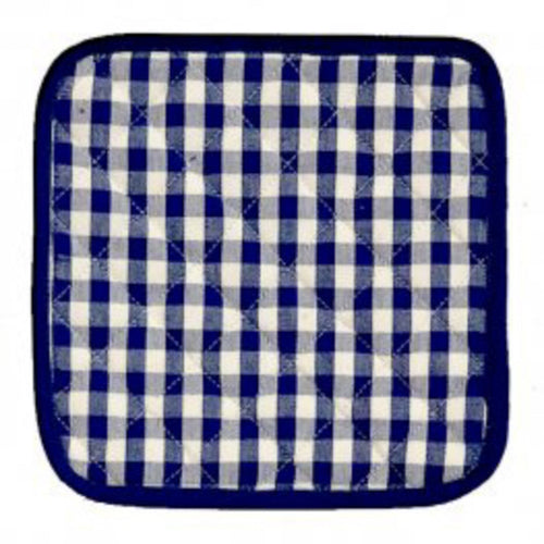 Gingham Check Pot Holder Blue & White homewares nz
