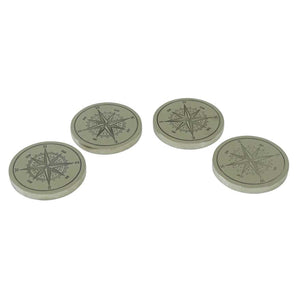Set Of 4 Compass Coasters