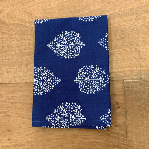 Avalon Cotton Tea Towel 50x70cm - Navy & White