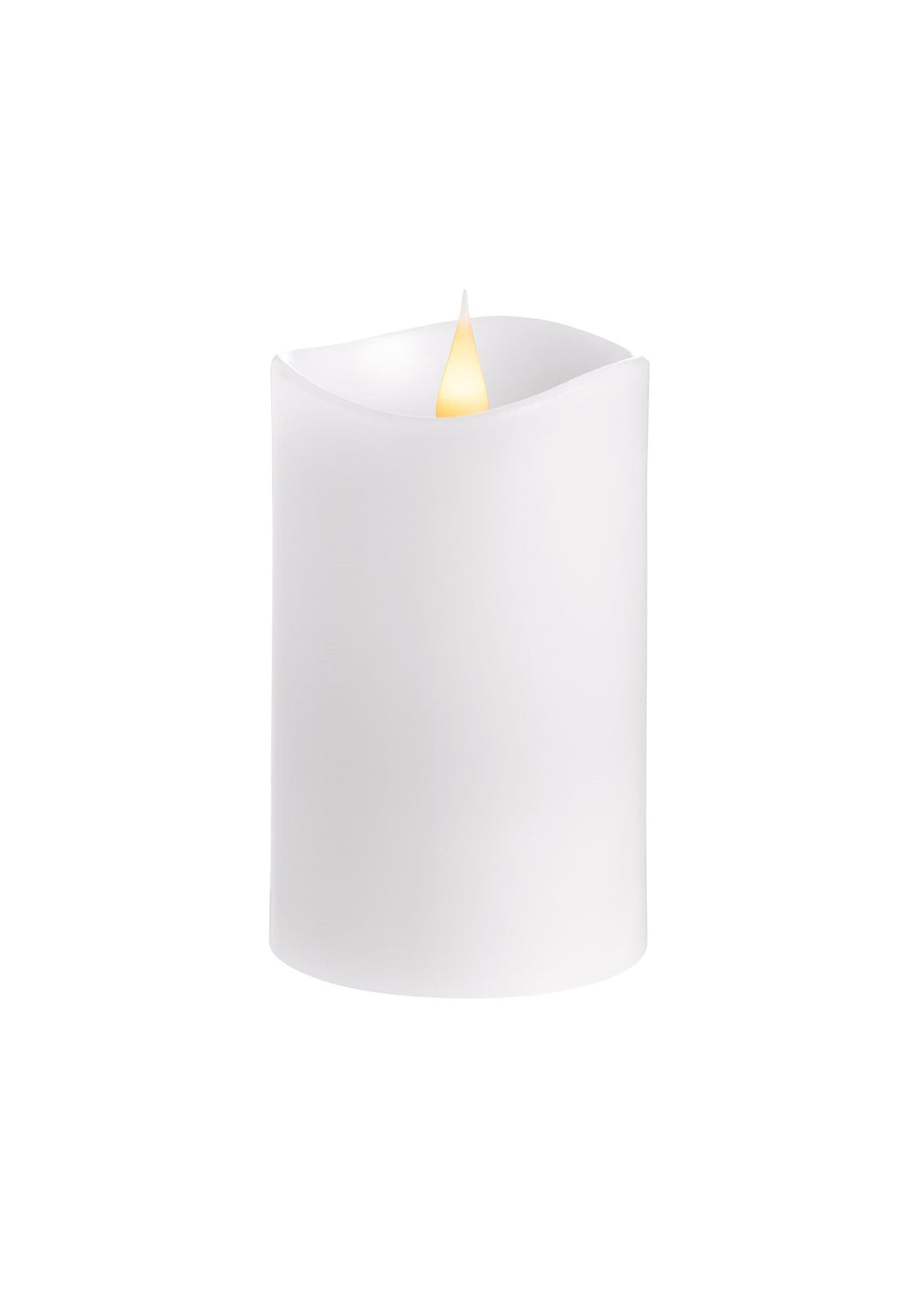LED Candle 8x13cm - White