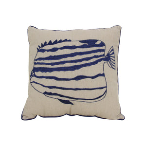 Navy Angelfish Cushion  Homewares nz