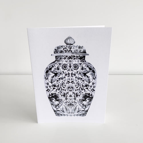 Standard Greeting Card - Black Ginger Jar Homewares nz