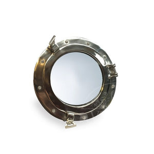 Nickel Finish Porthole Mirror 30cm